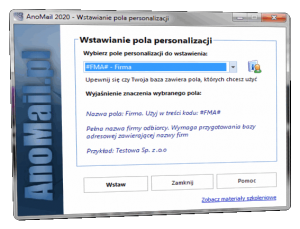 Personalizacja wysyłki e-mail